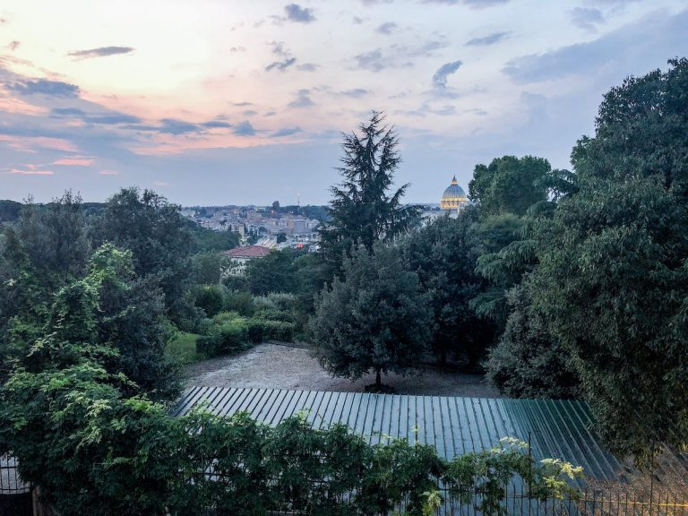 View from Janiculum Hill at sunset