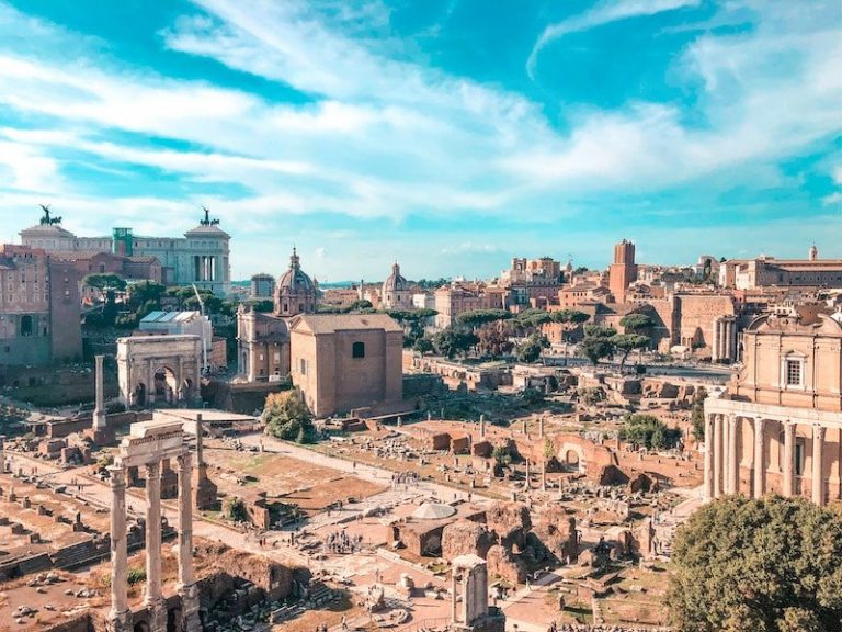 View of the Roman Forum and Palatine hill from the skyline