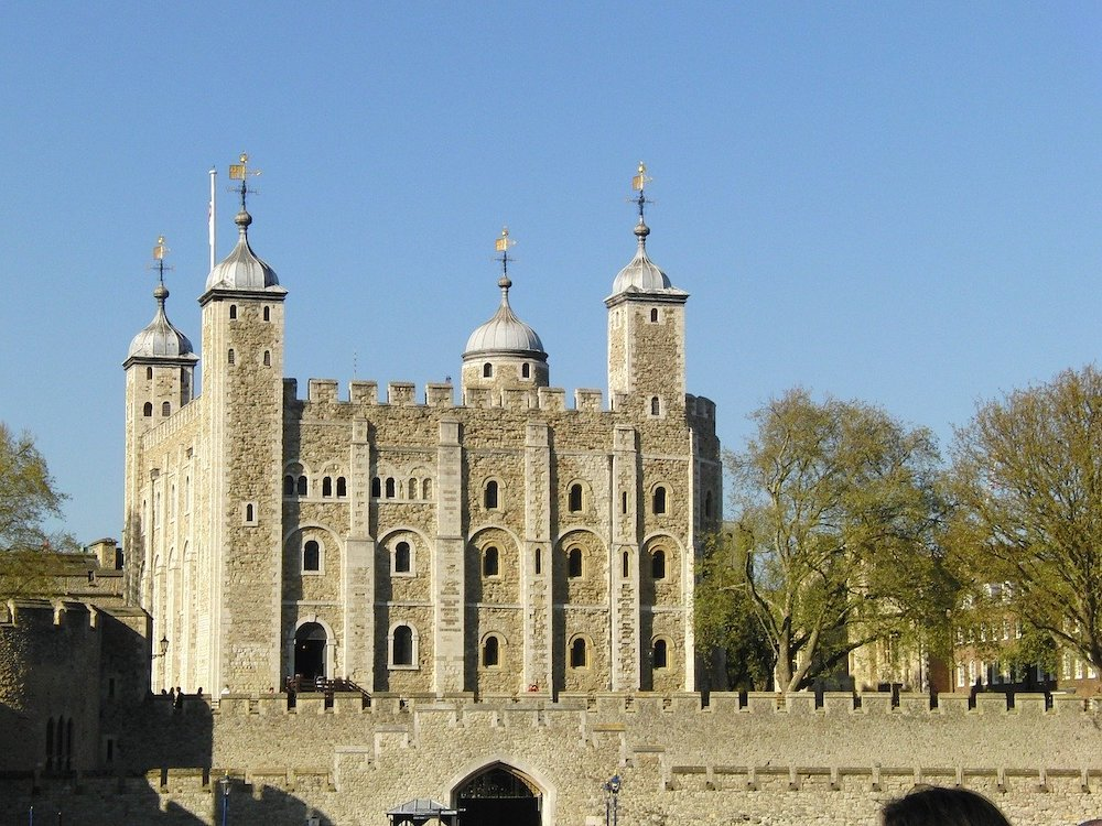 Sunny skies above the Tower of London
