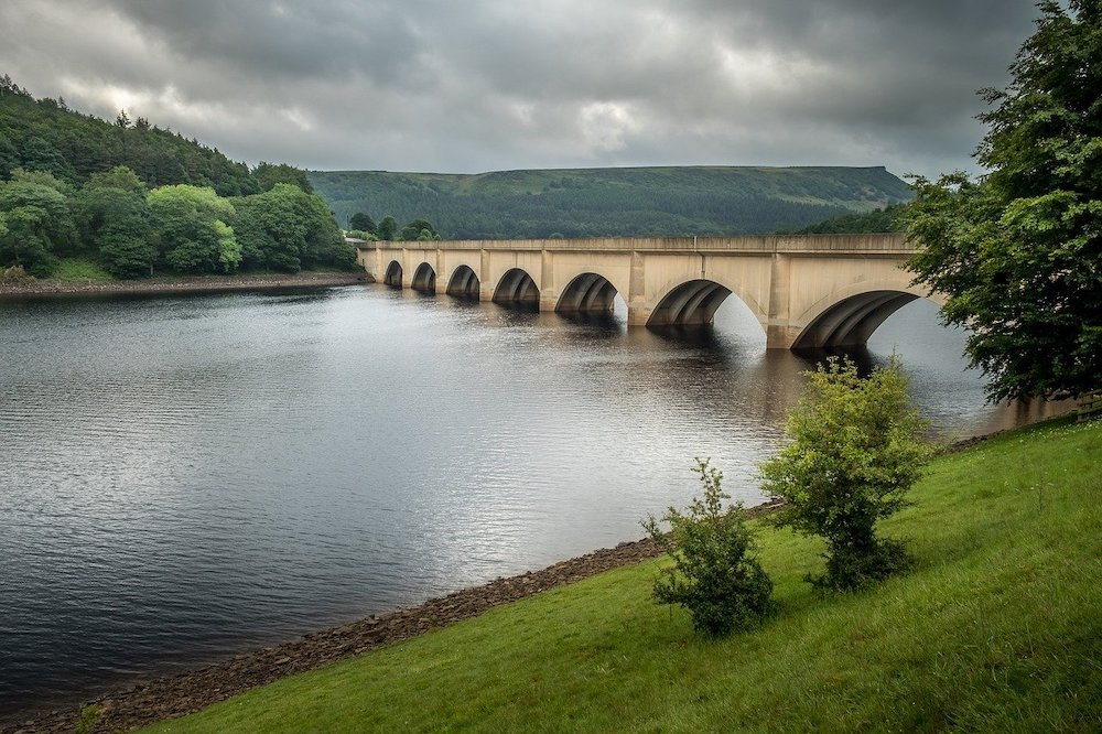 Bridge crossing over the Ladybower reservoir