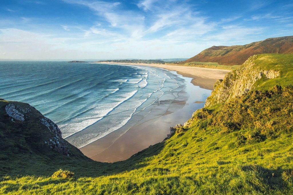 Low tide on a beach in Wales