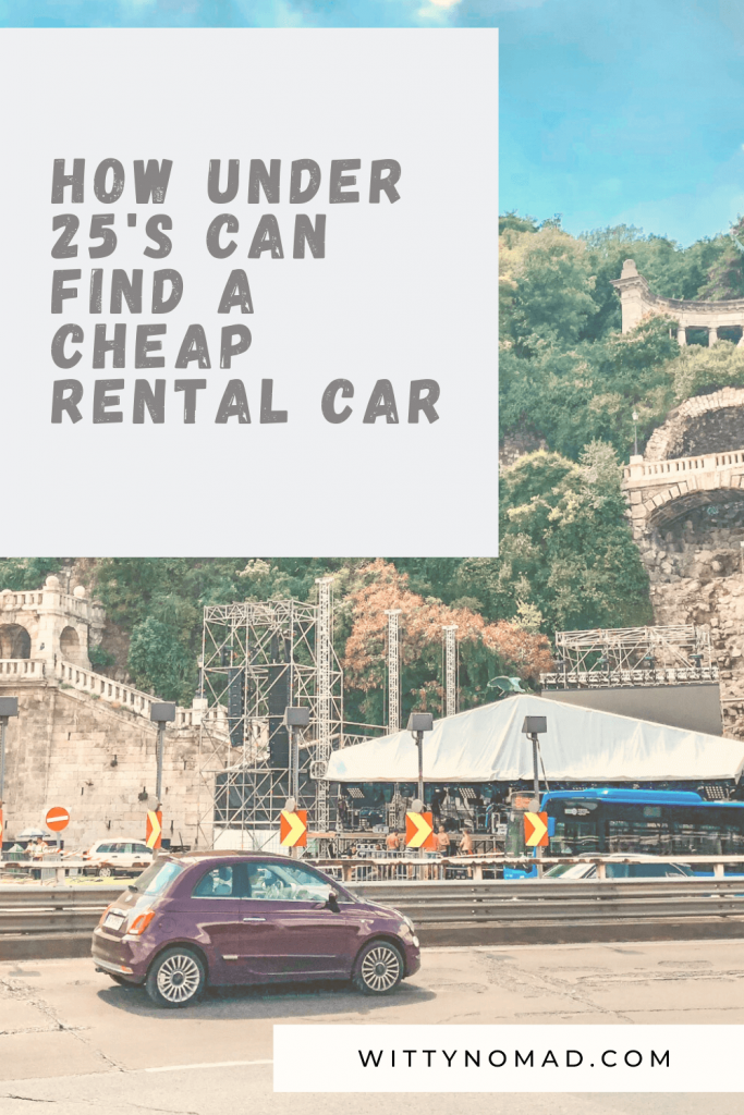 How Under 25's Can Find a Cheap Rental Car Pinterest Pin